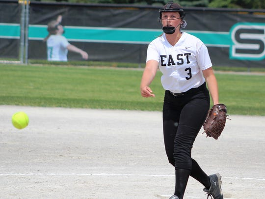 South Lyon East senior Sydney Kist threw nine innings of no-hit ball in the Cougars' district title conquest.