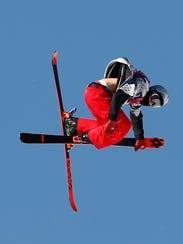Nicholas Goepper (USA) competes in the men's ski slopestyle