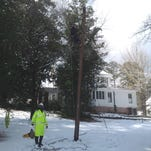 Mississippi Power crew members assisted crews in Fayette, Alabama, with restoring power after a winter storm knocked out service to thousands in West Alabama. Workers arrived back in Mississippi on Friday.