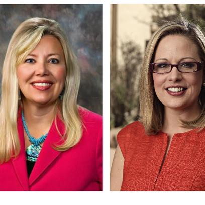 Arizona Congresswomen Debbie Lesko (left) and Kyrsten