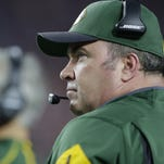 Green Bay Packers coach Mike McCarthy looks on from the sidelines in the fourth quarter against the Arizona Cardinals at University of Phoenix Stadium.