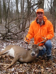 New Holstein's Mike Burkart poses with his 10-point