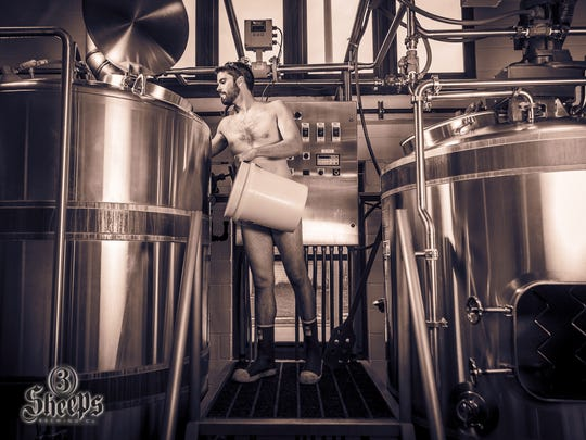 Grant Pauly, 3 Sheeps Brewing founder, hopes a calendar of brewers baring all will open conversations about men's health.