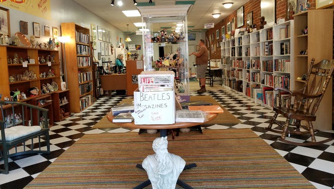 Clementine's Eclectic Gallery retains the mid-century charm of the old Pop's Soda Fountain checkered floor and many of the items inside are vintage as well. Look for books and everything from jewelry to art, crafts and collectibles.