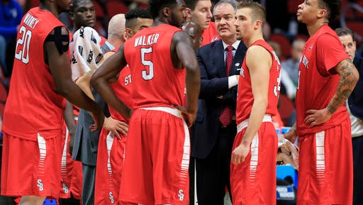 Stony Brook coach Steve Pikiell emphasizes defense, and it shows.