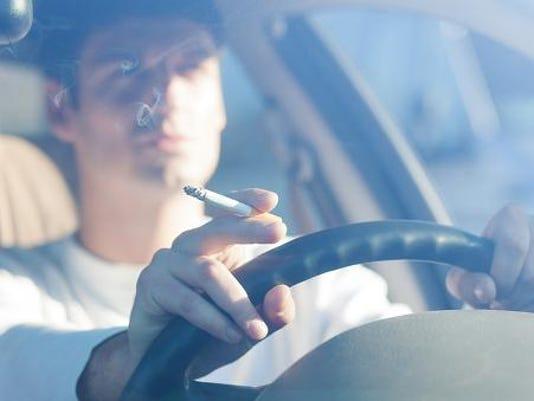 smoking and car