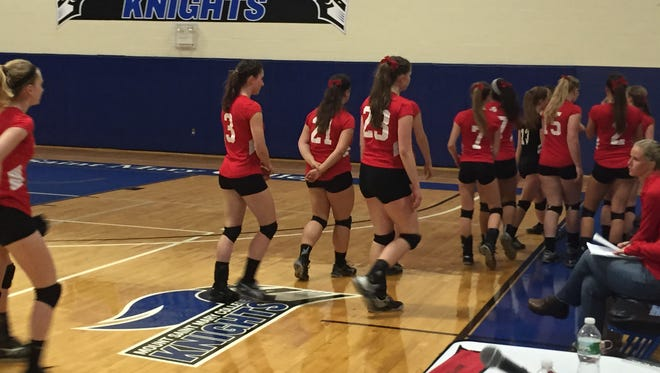 The Red Hook High School volleyball team fell to Rondout Valley in four games in the Section 9 Class B championship round.