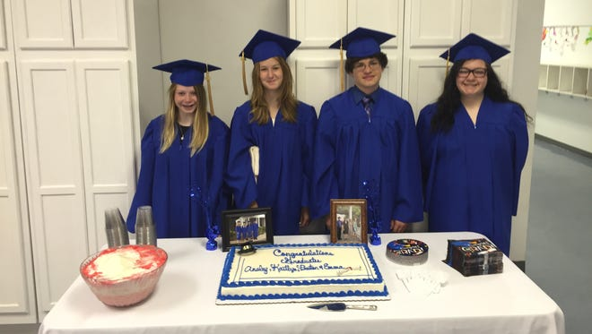 Montessori Educational Center's first graduating middle school class has four students: Kaitlyn Huff, Emma Sullivan, Preston Wilburn and Ansley Greer.