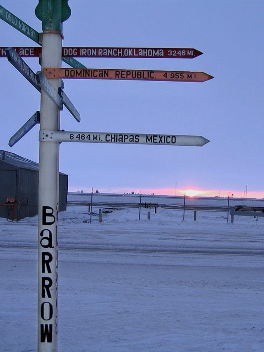 AP APTOPIX BARROW LAST SUN SET A FEA USA AK