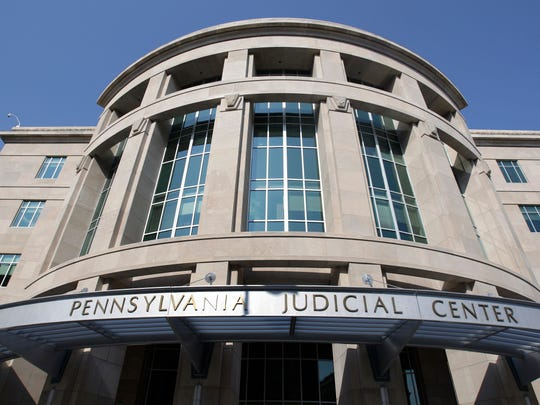 In this file photo from July 27, 2009, the Pennsylvania Judicial Center in Harrisburg is pictured shortly after its competition.