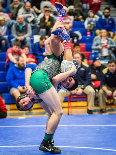 Teams compete in the wrestling regionals at Jay County