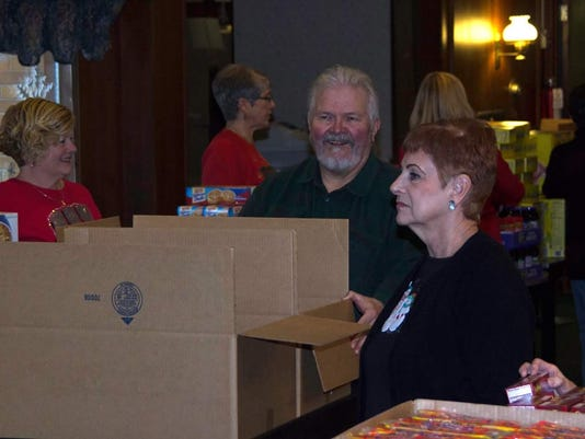 Sheboygan Elks food collection