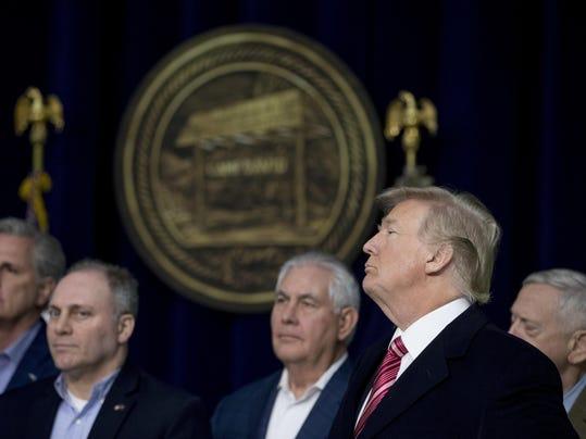 Donald Trump, Steve Scalise, Kevin McCarthy, Rex Tillerson, Jim Mattis