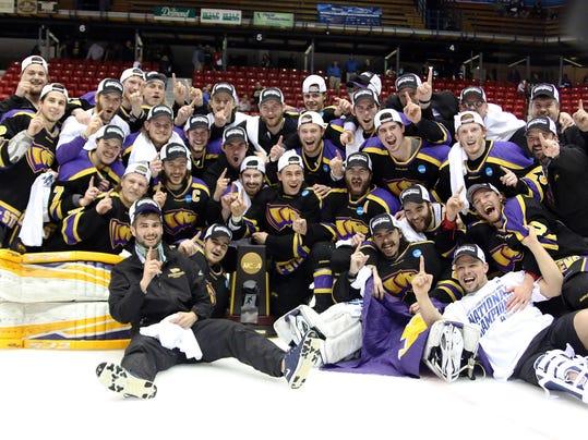 UW-Stevens Point men's hockey wins national title