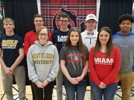 Oak Hills athletes who signed letters of intent to