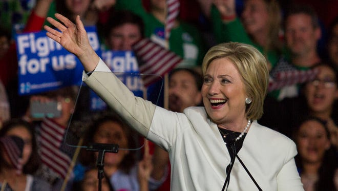 Democratic presidential candidate Hillary Clinton addresses supporters March 1, 2016, in Florida.
