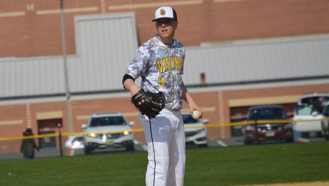South Brunswick's Jacob Ciccone prepares to throw a pitch against Hunterdon Central