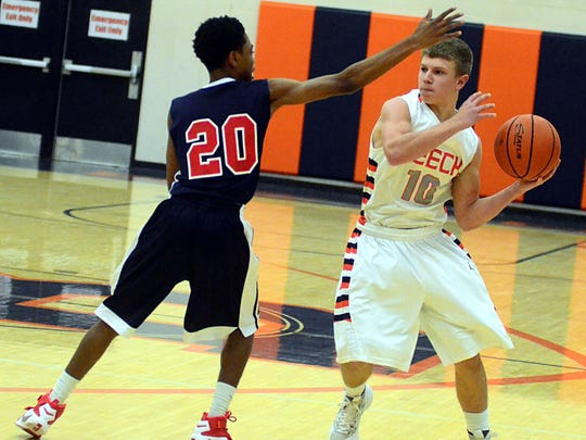 Beech High sophomore point guard Ty Dean looks to pass