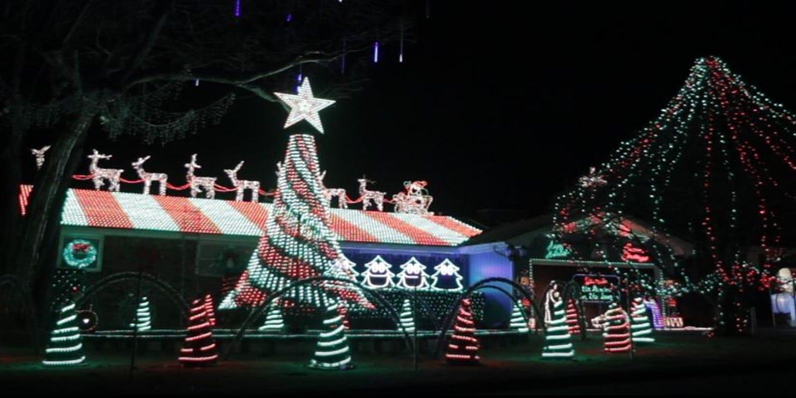Christmas lights displays in the Ozarks