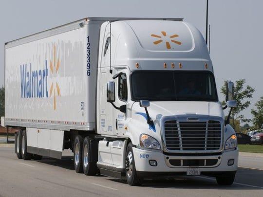 File art of a Walmart truck.