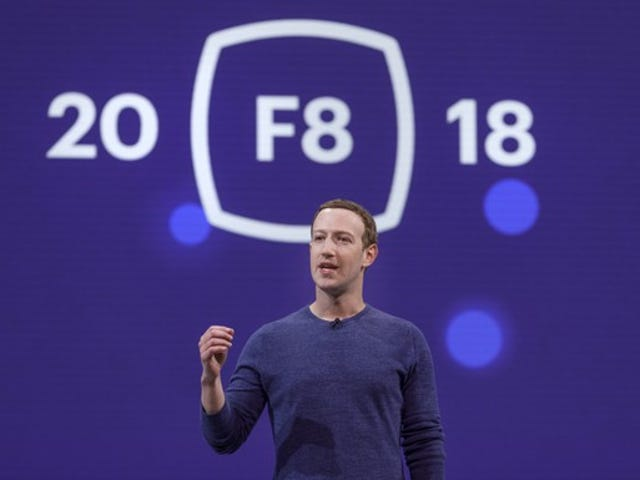 Facebook CEO Mark Zuckerberg at the company's F8 developer conference.
