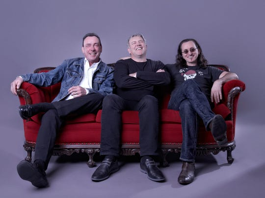 Rush is, from left, Neil Peart, Alex Lifeson and Geddy Lee.