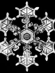 Snowflake photographed by Wilson Bentley.