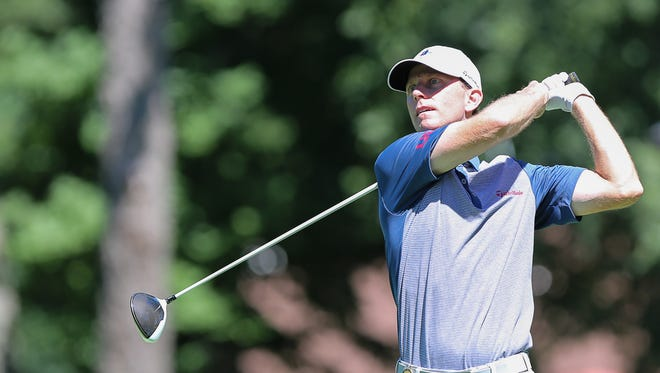Quaker Ridge head pro Brian Gaffney is tied for seventh after the first round of the 101st Met Open at Glen Oaks Club in Old Westbury Monday, August 22, 2016.
