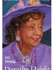 From the United States Postal Service, the Dorothy Height Forever stamp was introduced February 2017. The 40th stamp in the Black Heritage series honors Height, a tireless activist, who dedicated her life to fighting for racial and gender equality. She became one of the most influential civil and women's rights leaders of the 20th century.