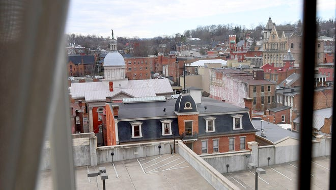 View from a guest room at the Stonewall Jackson Hotel and Conference Center in downtown Staunton on Wednesday, Dec. 20, 2017.