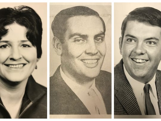 From left: Standard-Times reporters Joy Angel, Stephen Brown and Mike Cox were staff writers in 1969, and wrote extensively on the breakout and subsequent investigations.