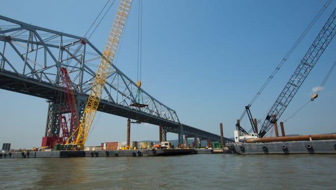 Main span pile cap construction for the new Tappan Zee Bridge.