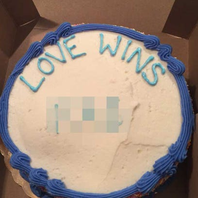 "A Texas pastor is suing Whole Foods because he said a bakery worker at its Austin store wrote a gay slur in addition to the requested phrase ""Love Wins"" on a cake he ordered. Whole Foods denies the allegation. The lawsuit was filed Monday, April 18, 2016, stemming from the incident Thursday, April 14, 2016."