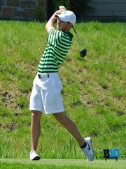 Josh Heinze finished his first season with Michigan State's golf team with the second-lowest 18-hole stroke average.