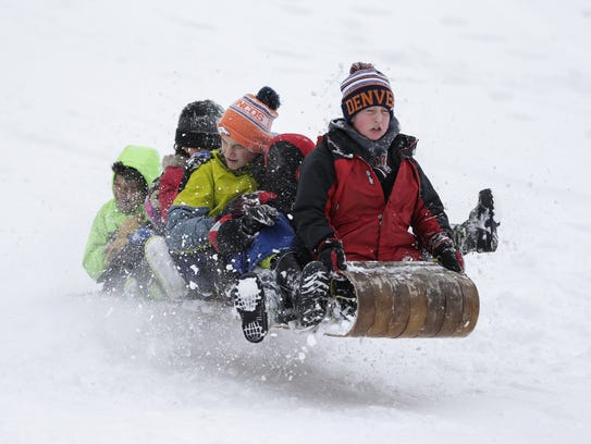 There will be more sledding than baseball in the coming weeks in the Green Bay, Appleton and Wausau areas.