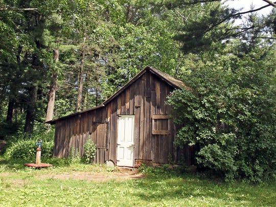 "Aldo Leopold and his family spent summers at this shack on the Wisconsin River, restoring the land there. That restoration served as inspiration for his book ""A Sand County Almanac."""