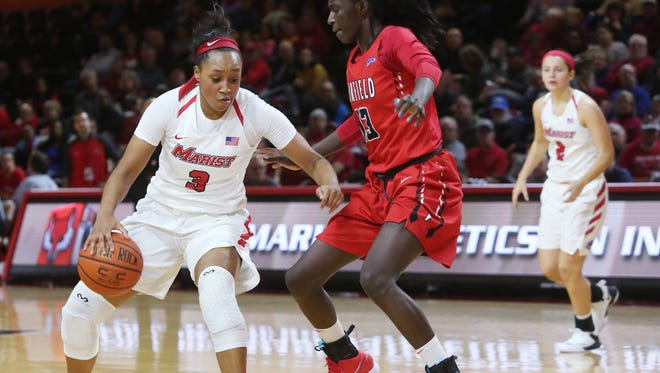 Marist College's Alana Gilmer dribbles during a Jan. 13 home game against Fairfield.