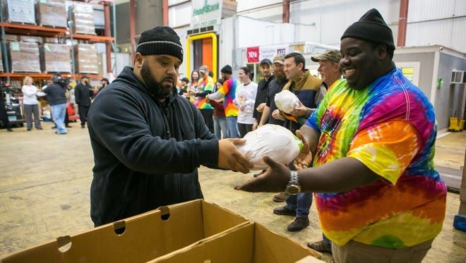 "Giant donates 1,000 turkeys to the Food Bank of Delaware as part of the annual ""Food for Families"" Holiday Food Drive."