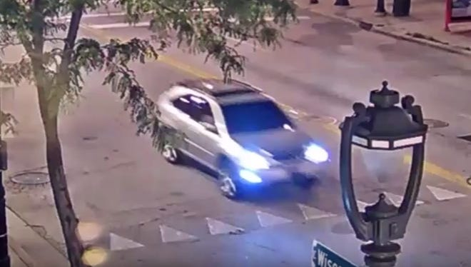 Milwaukee Police are searching for a man who was involved in a suspected abduction of a woman early Sunday morning in the 700 block of N. Water Street. He drove away in this silver SUV.