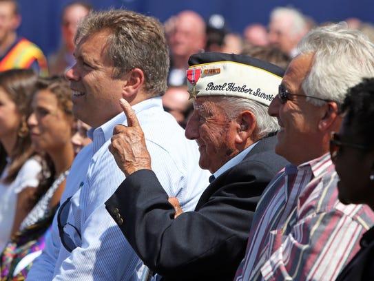 """Pearl Harbor survivor Armando """"Chick"""" Galella was honored"""