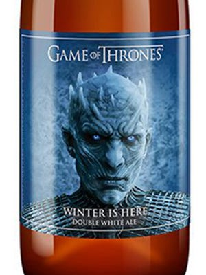 Winter is Here Double White Ale, from Brewery Ommegang in Cooperstown, N.Y., is 8.3% ABV.