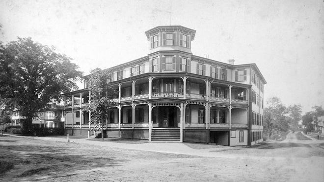The Hotel Barre at Common and Grove Streets, just after it was built.