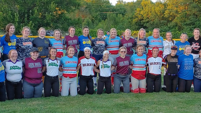 Team picture of players that participated in the 2020 Prairieland Conference Senior Softball Game in Lewistown on July 22,2020