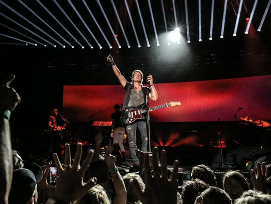 Keith Urban will play Bridgestone Arena Nov. 11.
