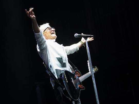 REO Speedwagon and front man Kevin Cronin performs