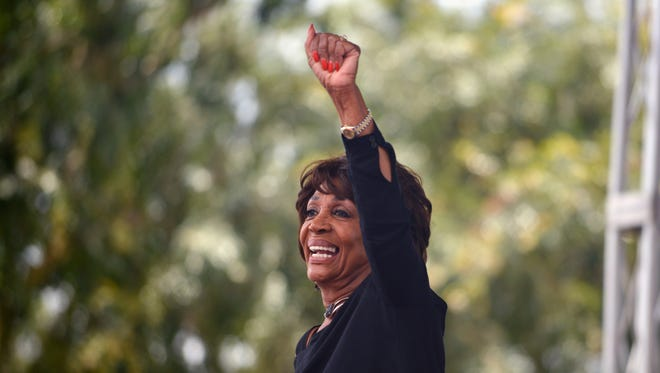 Rep. Maxine Waters, D-Calif., attends the LA Pride ResistMarch on June 11, 2017 in West Hollywood, California.