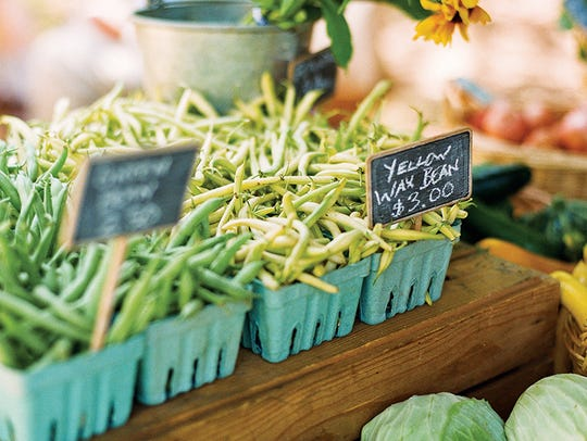 Organic produce is grown and sold at the farmers market