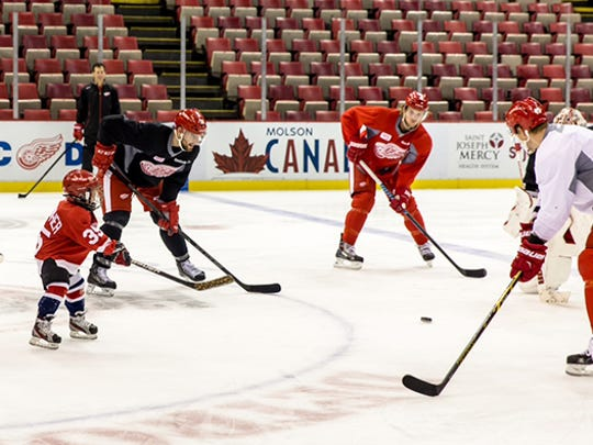 Owen Provencher stood out Thursday despite being the smallest Red Wing on the ice.