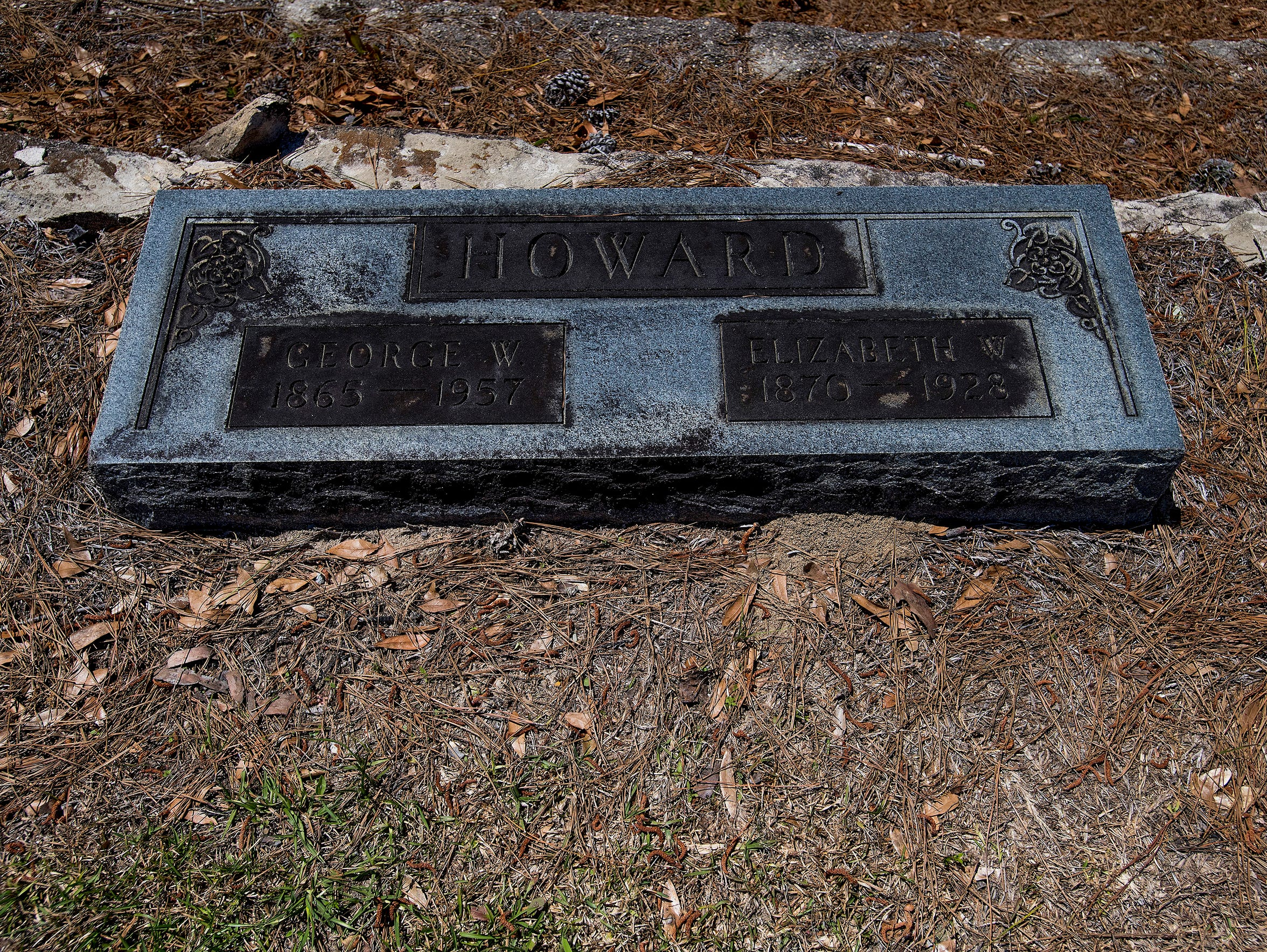 The grave of George Howard in Elmore County, Ala.