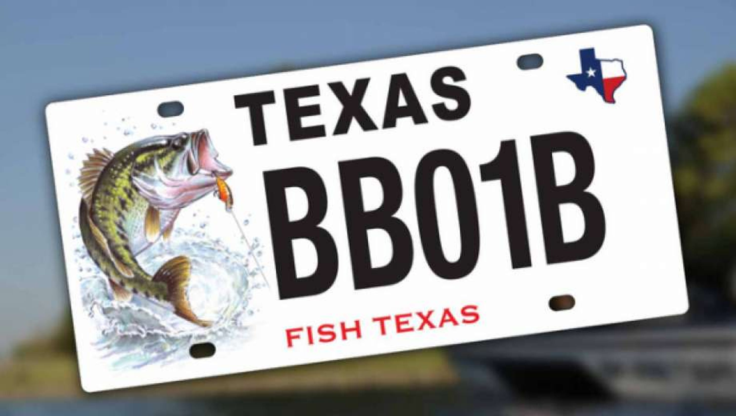 Texas license plates featuring fish enhance conservation for Tpwd fishing license